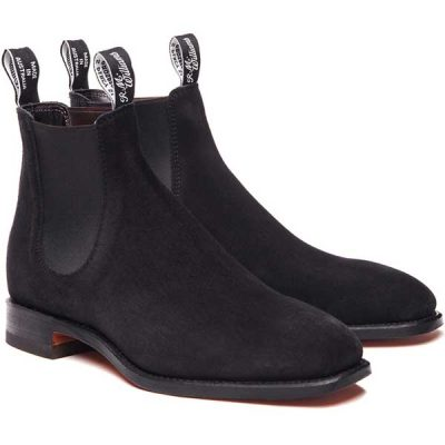 RM Williams - Craftsman Boots - Black Suede