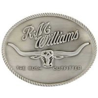 RM Williams - Longhorn Trophy Belt Buckle - Silver