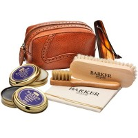 Barker Shoe Care Kit - Luxury Valet Set - 1x Black & 1x Neutral Polish