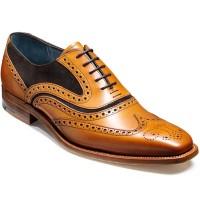 Barker Shoes - McClean Brogue - Cedar Calf & Choc Suede