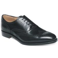 Cheaney - Broad II Brogue Shoes Leather Sole - Black Calf
