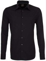 Seidensticker Shirts - Kent Slim Fit Schwarze Rose - Black
