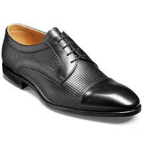 Barker Flex Shoes - Deene Derby Style - Black Calf