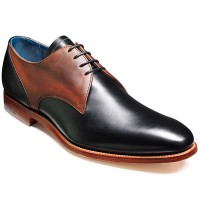 Barker Shoes - Alvis Derby Style - Black & Brown Waxy