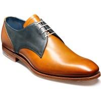 Barker Shoes - Alvis Derby Style - Cedar & Blue Waxy