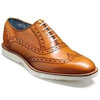 Barker Shoes - Avenger White Sole Brogue - Cedar Calf