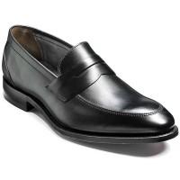Barker Shoes - Davenport - Saddle Loafer - Black Calf