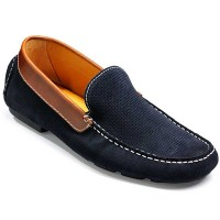 Barker Shoes - Denby - Driving Shoe - Navy Suede