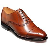 Barker Shoes - Devon - Oxford Semi Brogue - Walnut Calf