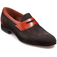 Barker Shoes - Dodmoor Penny Loafer - Bitter Choc Suede