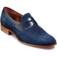 Barker Shoes - Dodmoor Penny Loafer - Navy Suede