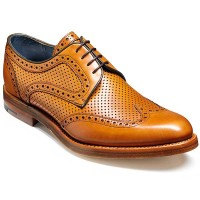 Barker Shoes - Dowd - Cedar Calf & Perforated Leather