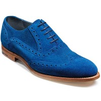 Barker Shoes - Grant Brogues - Blue Suede