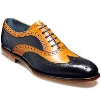 Barker Shoes - Jensen Oxford Brogue - Cedar Calf & Blue Calf