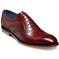 Barker Shoes - Jensen Oxford Brogue - Cherry Calf