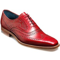 Barker Shoes - McClean Brogue - Red Paisley Laser