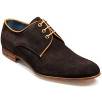 Barker Shoes - Wolseley Derby Style - Bitter Choc Suede