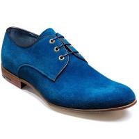 Barker Shoes - Wolseley Derby Style - Blue Suede