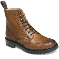 Cheaney - Tweed C Brogue Boots - Almond Grain Leather