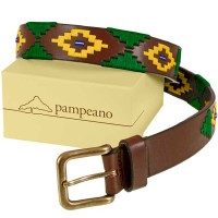 Pampeano - Leather Polo Belt - 'Brazil Flag' Limited Edition