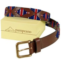 Pampeano - Leather Polo Belt - 'British Flag' Limited Edition