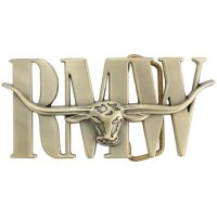 RM Williams - Logo Belt Buckle - Antique Brass
