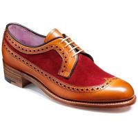 Barker Ladies Shoes – Abbey – Cedar Calf & Burgundy Suede