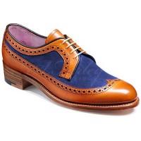 Barker Ladies Shoes – Abbey – Cedar Calf & Navy Suede