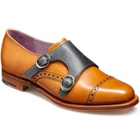 Barker Ladies Shoes – Charlotte – Monk Strap – Cedar & Blue Calf