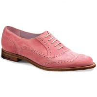 Barker Ladies Shoes – Freya Brogue – Pink Suede.