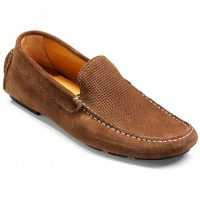 Barker Shoes - Denby - Driving Shoe - Cappuccino Suede