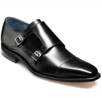 Barker Shoes - Hillman Monk Strap - Black Calf