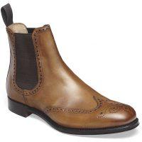 Cheaney - Albert II Brogue Chelsea Boots - Chestnut Calf