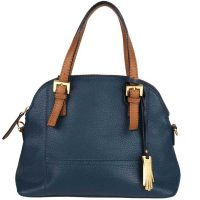 Dents Ladies - Hazel Leather Grab Bag - Navy & Tan