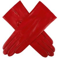 Dents Ladies - Joanna Silk Unlined Leather Gloves - Berry