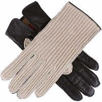 Dents Ladies - Lesley Crochet Driving Gloves - Black