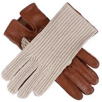 Dents Ladies - Lesley Crochet Driving Gloves - Cognac