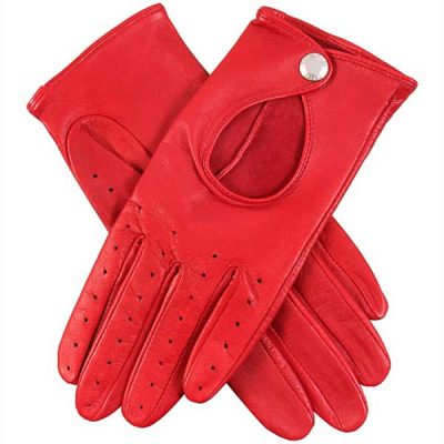 Dents Ladies - Thruxton Leather Driving Gloves - Berry