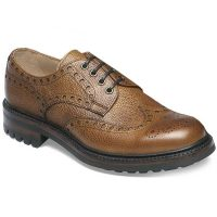 Cheaney - Avon C Wingcap Country Brogue - Almond Grain Leather