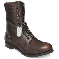 Cheaney - Tiger Moth R Mid Calf Military Style Boots Copper Goat Skin