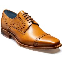 Barker Shoes - Haig - Derby Toe Cap - Cedar Calf & Paisley Laser