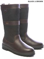 Dubarry Kildare Leather Boots - Black & Brown