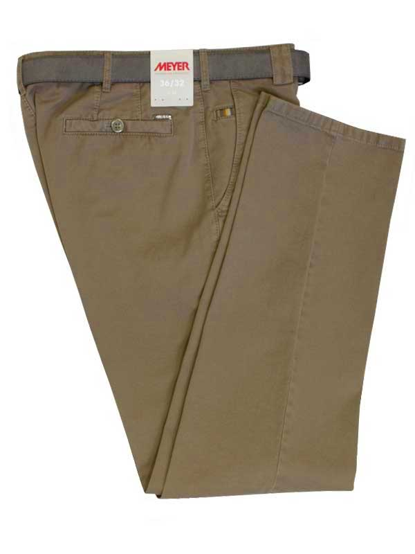 Meyer Trousers Beige Classic Cotton Roma Chinos