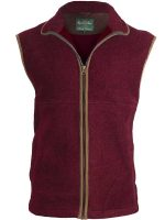 Alan Paine – Aylsham Ladies Fleece Waistcoat – Bordeaux