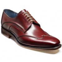 Barker Shoes - Brooke Wingtip Derby - Cherry Calf