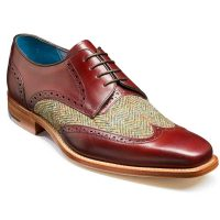 barker-jackson-cherry-calf-green-harris-tweed