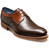 Barker Shoes - Benedict - Derby Style - Brown Croc