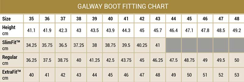 Dubarry Boots Size Guide
