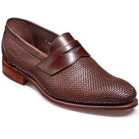 Barker Shoes - Hereford Slip On - Brown Weave/ Calf