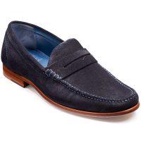 Barker Shoes - William - Suede Moccasin Loafer Navy